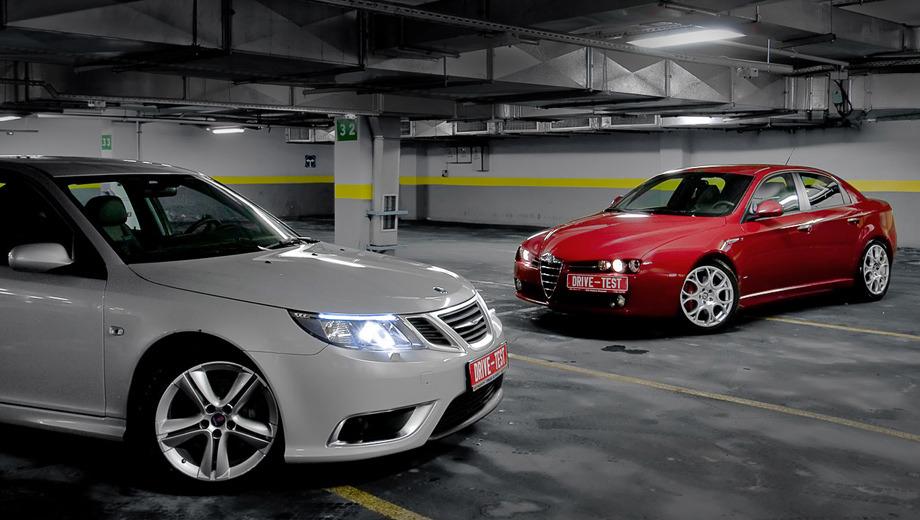 Alfaromeo 159,Saab 93,Saab alfa159_93. Отличные машины— красавицы, едут чудесно. Нобольшинство автолюбителей лишь признают эти плюсы, асами идут всалон за«японцами» или «немцами». Что-то нетак сэтими автомобилями? Или всё-таки сголовами покупателей?