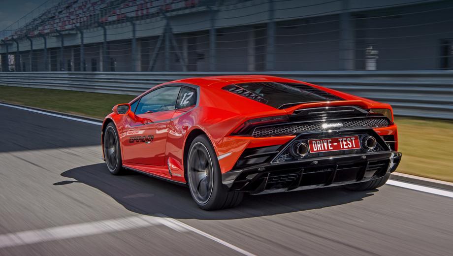 Lamborghini huracan. Представленный ещё в январе Evo будет омологирован у нас к осени, квота на Россию не превышает 20 машин. Немало: к нам привезут всего шесть Ferrari F8 Tributo. Основные поставки ожидаются к началу тёплого сезона 2020-го, но самые нетерпеливые получат Ураканы зимой.
