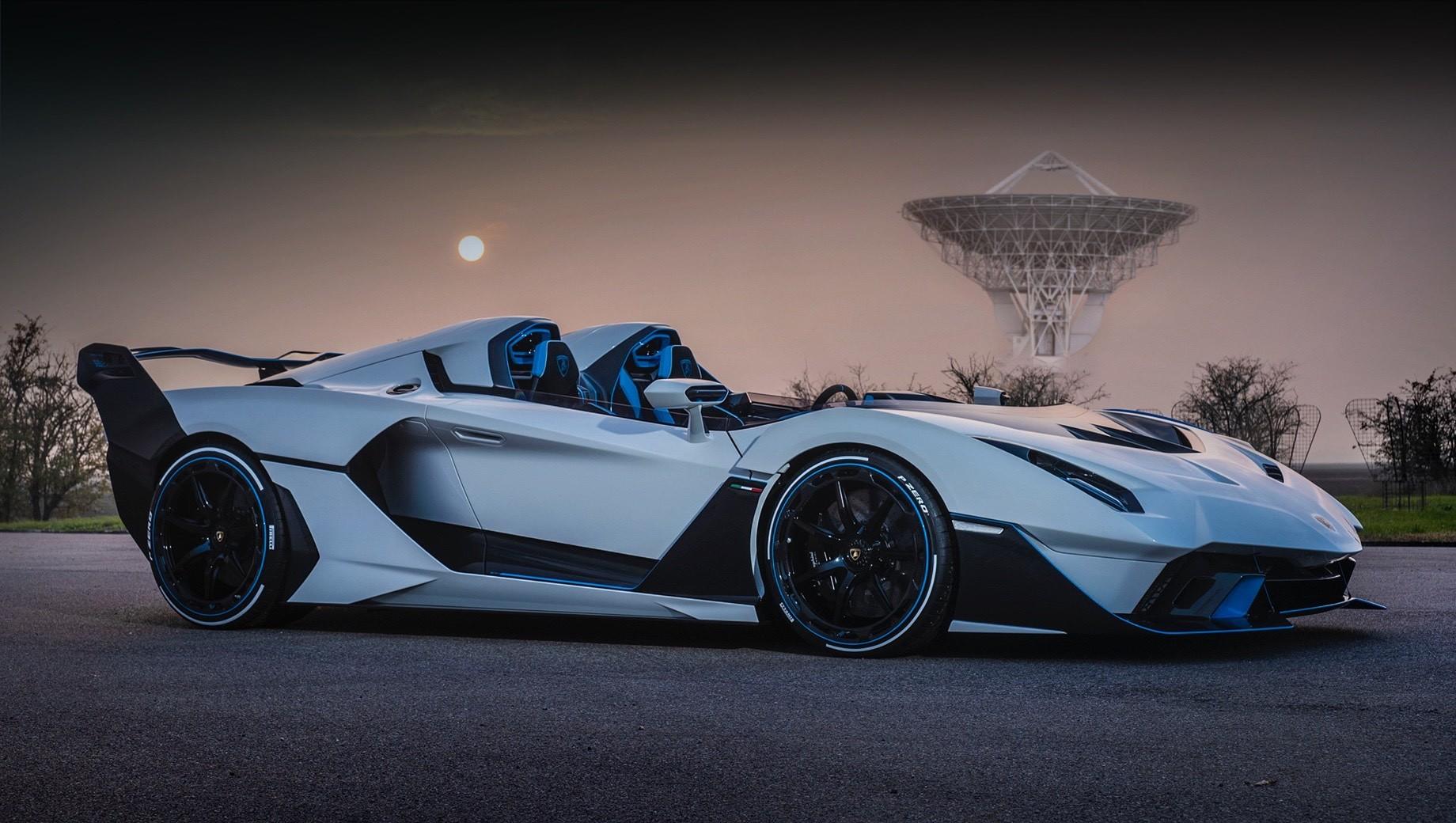 Lamborghini sc20. О динамических и скоростных характеристиках Lamborghini SC20 не сообщается, но Aventador SVJ с таким же агрегатом разгоняется до сотни за 2,8 с, а его максимальная скорость — 351 км/ч. У SC20 установлены кованые алюминиевые колёса с центральной гайкой диаметром 20 дюймов спереди и 21 сзади.