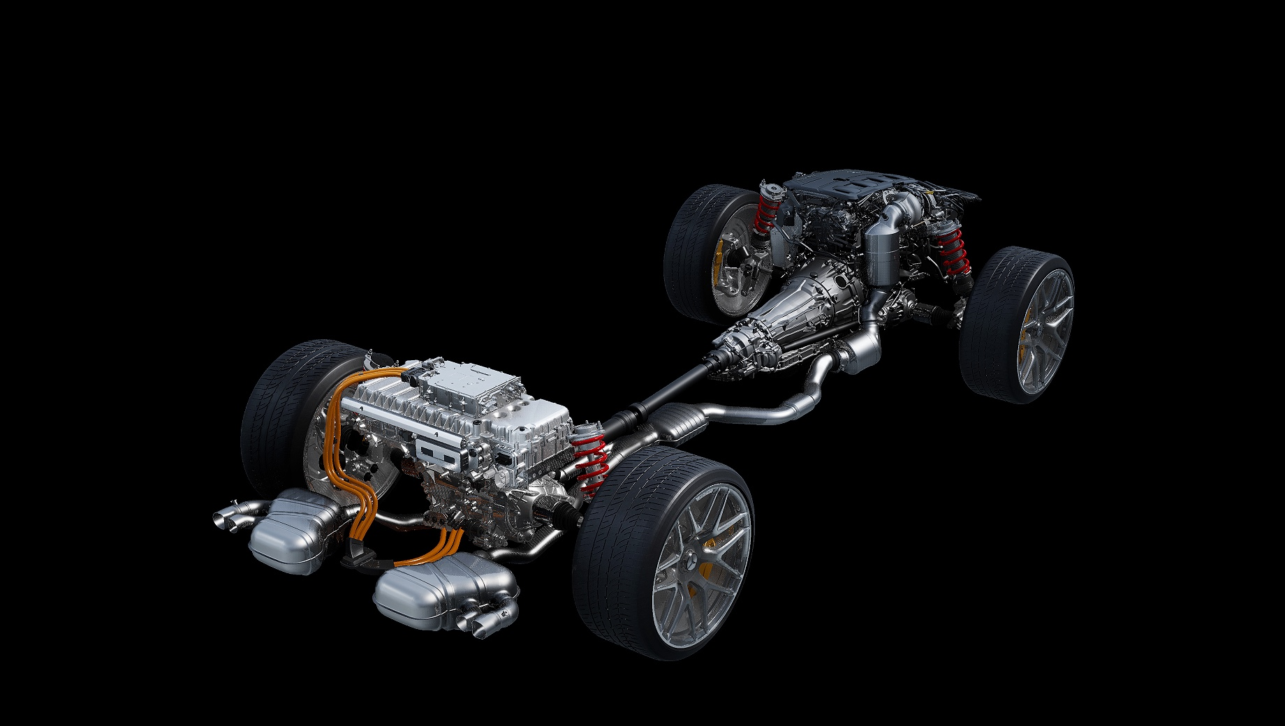 Mercedes c63 amg,Mercedes -amg c43. На быстрых «цешках» двухлитровый двигатель M139 от хот-хэтча Mercedes-AMG A 45 S адаптирован под продольную установку, но на версии C 63 агрегат дополнен электрическим наддувом. А ещё сильно отличаются литий-ионные тяговые батареи. У топ-версии она более ёмкая и весит 89 кг.