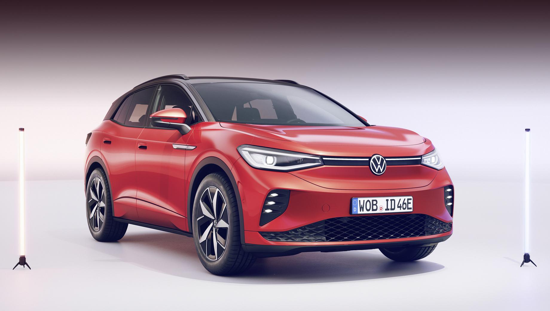 Volkswagen id 4,Volkswagen id 4 gtx. Внешне GTX почти копирует простой ID.4, но выделяется рядом дизайнерских штрихов вроде шестёрки сотовых ходовых огней в бампере, намекающих на стилистическую связь с Гольфом GTI.
