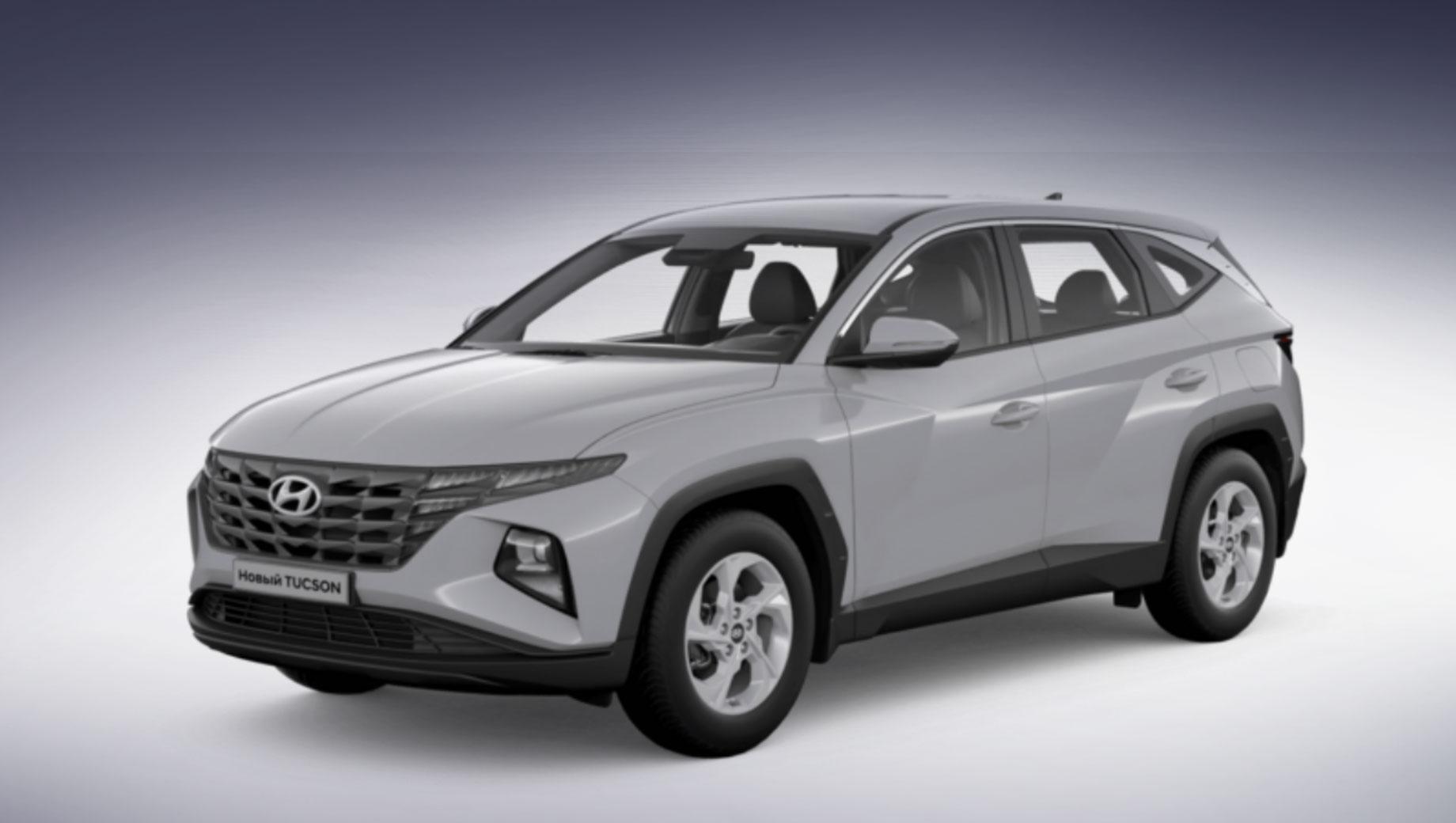 Hyundai tucson. Это стартовый Tucson из конфигуратора «Хёндэ Мотор СНГ». Бесплатным стал только белый цвет кузова, а «металлик», «перламутр» и «перламутровый металлик» (всего восемь вариантов) требуют доплату в 18 000 рублей. Легкосплавные диски идут с шинами размерности 235/65 R17.