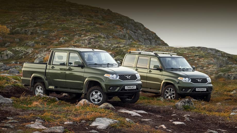 Uaz patriot,Uaz pickup. Метановый Патриот доступен в комплектациях «Классик», «Комфорт», «Люкс» и «Люкс Премиум», а метановый Пикап — в версиях «Классик», «Комфорт» и «Люкс Премиум». Метановые модели используют пятиступенчатую «механику».